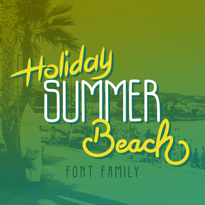 holiday summer beach font family