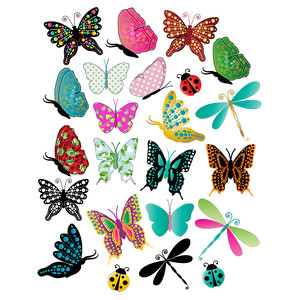 butterfly planning stickers