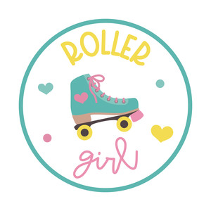 roller girl sticker