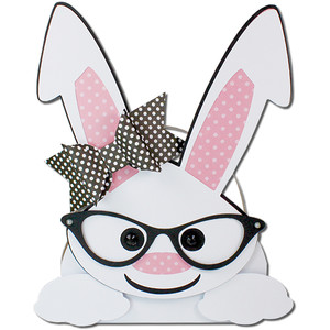 girl bunny glasses bunny egg basket