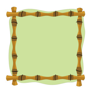 tropical bamboo frame
