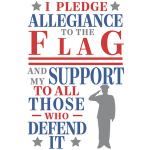 pledge allegiance flag support defend