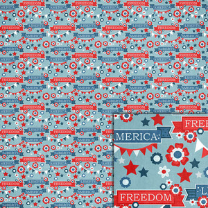 patriotic word banners background paper