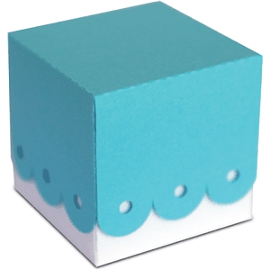 3d scalloped party favor box