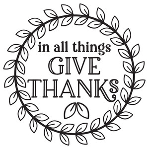 in all things give thanks wreath
