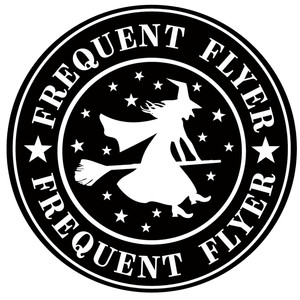 frequent flyer label