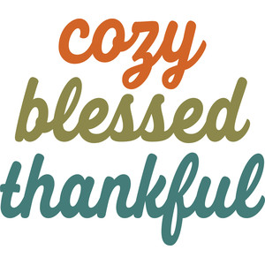 cozy blessed thankful words
