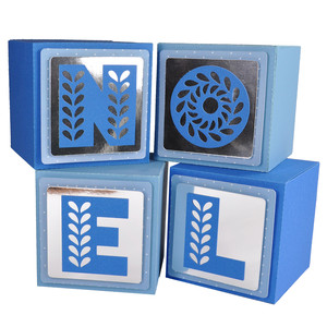 noel block gift box ornaments