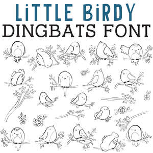 cg little birdy dingbats