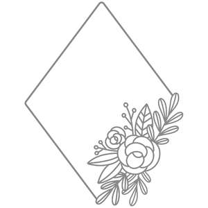 diamond floral frame