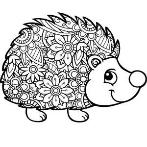 hedgehog mandala zentangle