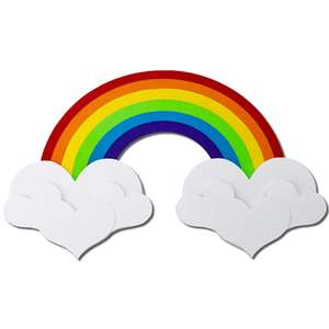 rainbow heart clouds