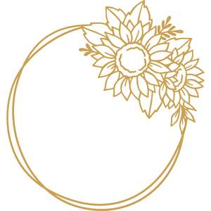 sunflower circle frame