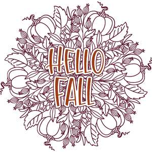 hello fall mandala