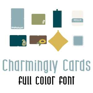 charmingly cards full color font