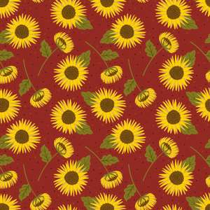 autumn sunflowers pattern
