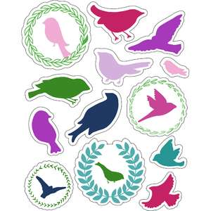 ml birds lovely stickers