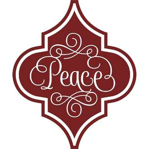 peace arabesque christmas ornament