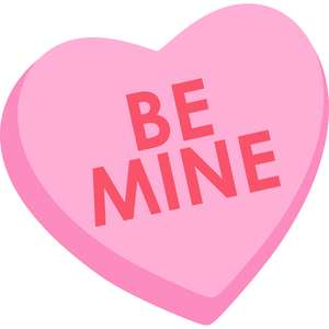 be mine conversation heart