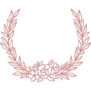 flower laurel leaf frame
