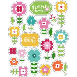 ml lovely springtime flowers stickers