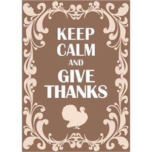 keep calm give thanks phrase