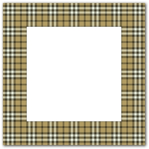 caramel brown plaid frame