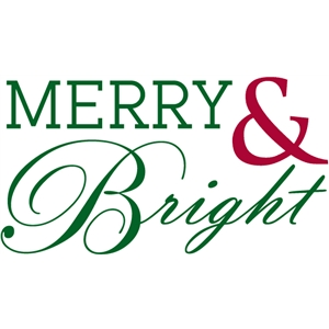 merry & bright phrase / page title