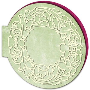 ornate round card