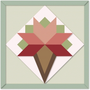 bride's bouquet quilt block