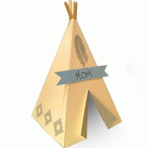 tall teepee place setting