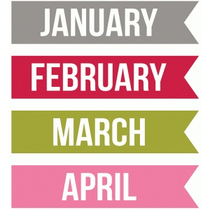 months january, february, march, april