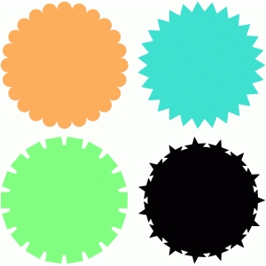 circle shapes scallop zig zag stars