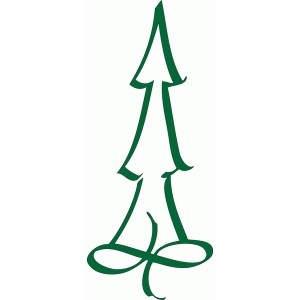 christmas tree - calligraphic