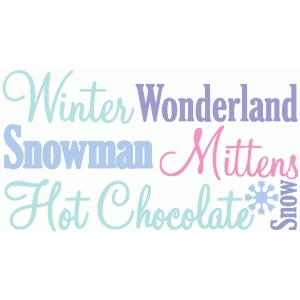 winter word set