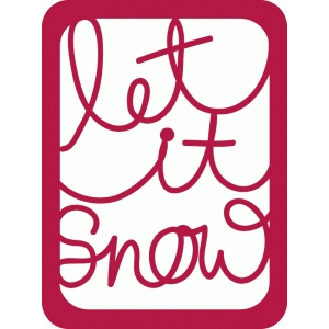 let it snow journaling card