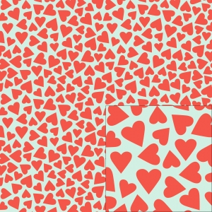 red hearts pattern