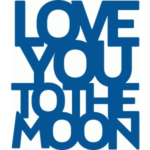 mini placemats love you to the moon