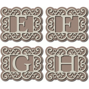 flourish monogram efgh