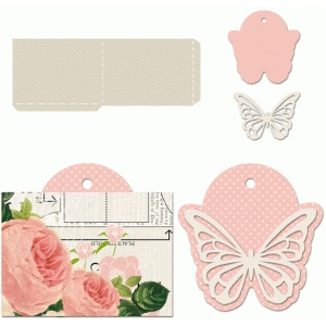 dainty butterfly tag with sleeve
