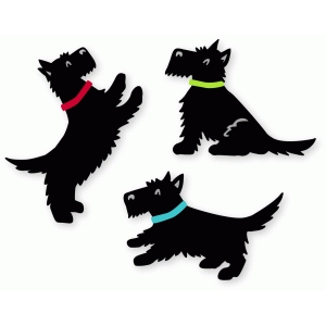 three little terriers set