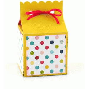ribbon tie favor box: scalloped