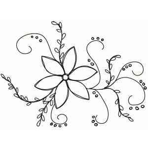 flower flourish sketch