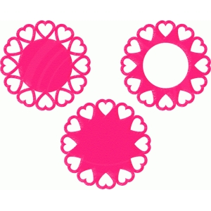 heart doilies set