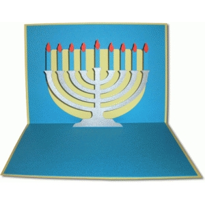 menorah pop-up card