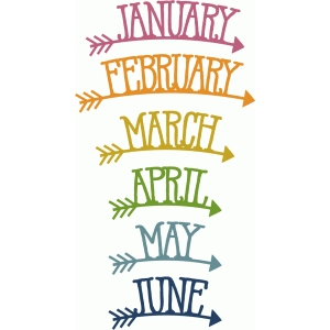 arrow months january-june