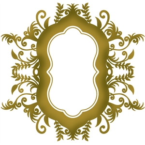 2-piece ornate flourish frame