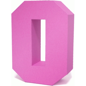 3d square number block 0