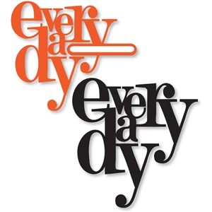 'everday' word collage