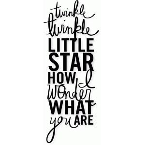 'twinkle, twinkle little star' word art